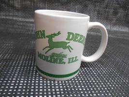Old Vtg JOHN DEERE Moline Ill. COFFEE CUP MUG ADVERTISING Tractor Farm - $19.79