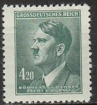 1945 Adolf Hitler Bohemia and Moravia Postage Stamp Catalog Number 90 MNH