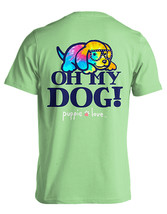 Puppie Love Rescue Dog Adult Unisex Short Sleeve Cotton Tee,Oh My Dog Pup