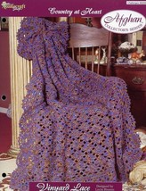 Vinyard Lace Afghan TNS Country At Heart Crochet Pattern/Instructions NEW - $4.47