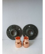 2 X Malleable iron metal Flange  and 2 X Copper 15mm Pipe Fitting *LOOK* - $13.04
