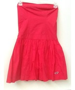 HOLLISTER RED STRAPLESS 100% Cotton  DRESS SIZE S Small NWT New - $27.95