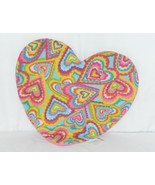 Molly N Me Multi Colored Hearts Pink No Slip Backing Floor Bath Mat - $12.99