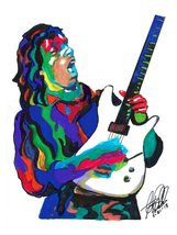 "Joe Satriani, Satch, Guitar Player, Guitarist, Blues Rock, 18""x24"" Art P... - $19.99"
