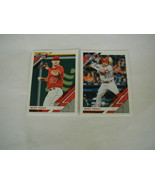 2019 DONRUSS MIKE TROUT BASE & PHOTO VARIATION CARD #170 ANGELS 2 CARD LOT - $9.89