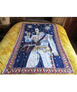 Vintage ELVIS PRESLEY  Lei cotton Tapestry Wall Hanging Made in Turkey - $35.00