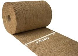 "4"" Natural Burlap Ribbon 10 Yards Unfinished Edge Premium Jute Craft Dec... - $24.75"