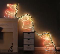 Hanging Wall Merry Christmas Santa Decoration w/ LED Lights Xmas Statue ... - $293.99