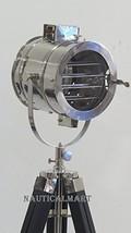 Nauticalmart Brilliant Chrome Finish Searchlight With Tripod Floor Lamp  - $199.00