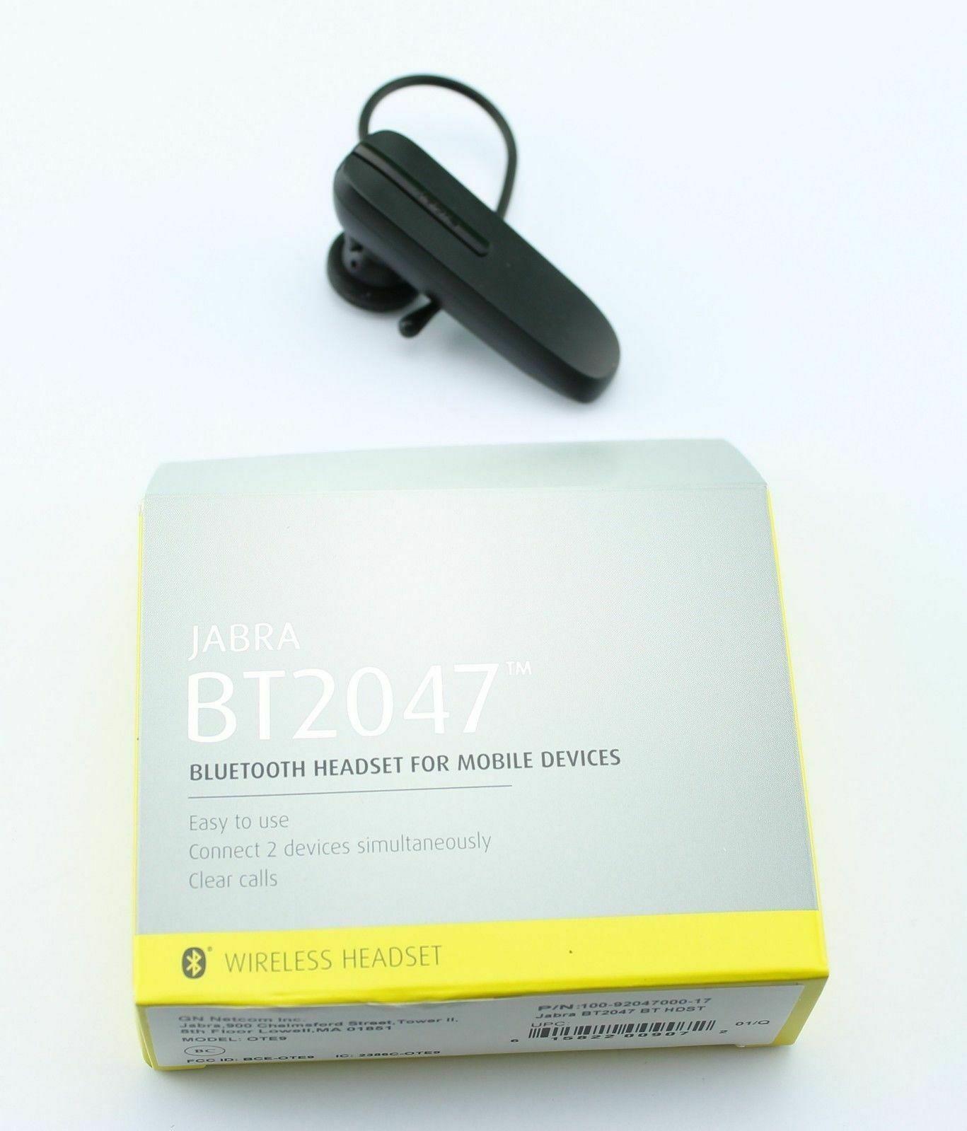 Jabra Wireless BT2047/BT2046 Bluetooth Headset for Smartphones