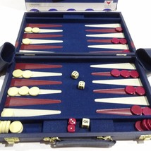Backgammon Board Game 1997 Cardinal With Leatherette Travel Case - $18.99