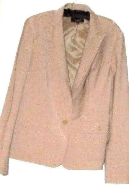 TALBOTS BEIGE ONE BUTTON BLAZER SIZE 14