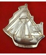 1990 Silverplate Kirk Stieff Williamsburg Sailing Ship Christmas Ornamen... - $49.00