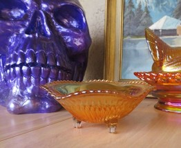 rare vintage Carnival glass bowl plate Pop Art Deco - $50.00