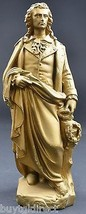 """Vintage Gold Painted Plaster Statesmen Figurine 12.25"""" Tall Collectible Decor - $19.99"""