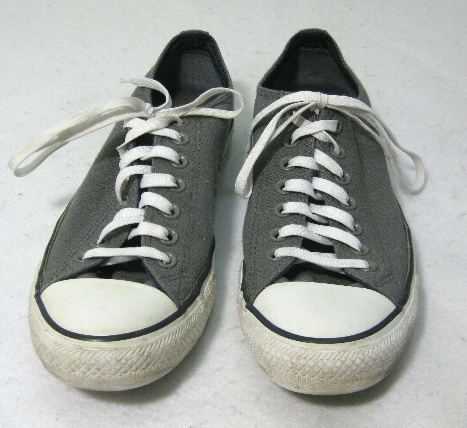 9b2d2177e798 Converse All Star Gray Canvas Shoes (Mens 9