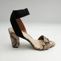 Vince Camuto Womens Citriana Sandals Multicolor Snakeskin Block Heels 8.5 M - $39.59