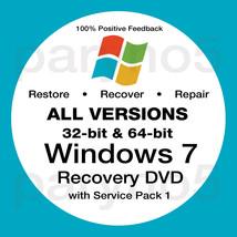 WINDOWS 7 STARTER Recovery 32 Bit Install Reinstall Boot Restore DVD Dis... - $7.99