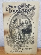 1905 BALDWIN PIANO Co. Advertising Booklet Sheet Music SONGS OF LONG AGO  - $10.64