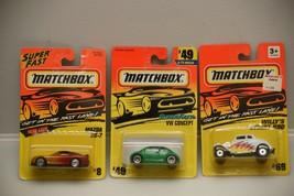 Matchbox (Lot of 3) Vehicles 1:64 NIP Mazda RX-7/ VW Concept/ Street Rod - $4.99