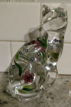 """Lenox Glass Cats Figurines from Estate 6"""" & 3.5"""" Hand Painted image 3"""