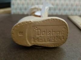 Vintage Dolshoe & Oil Cloth Doll shoes  2 pair....Cute! - $12.86