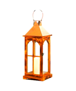 "Large Rose Gold Wooden Lantern 20.5"" (10018314) - $34.95"