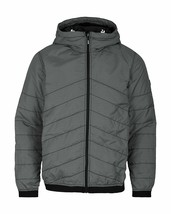 Bench Ahlo Black Charcoal Grey Quilted Lightweight Winter Jacket Hood BMKA1469 image 1