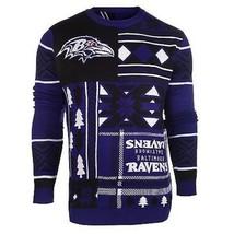 Laid Noël Pull NFL Baltimore Ravens Patchs Football Noël Ras Cou - $70.69+