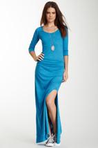 NWT Women's Alternative Earth Nickel Peacock Blue Organic Maxi Dress XS-L - $29.99