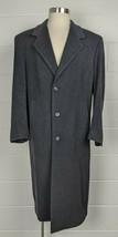 Polo University Club Ralph Lauren Charcoal Lambswool Cashmere Coat Overcoat 40R - $74.25