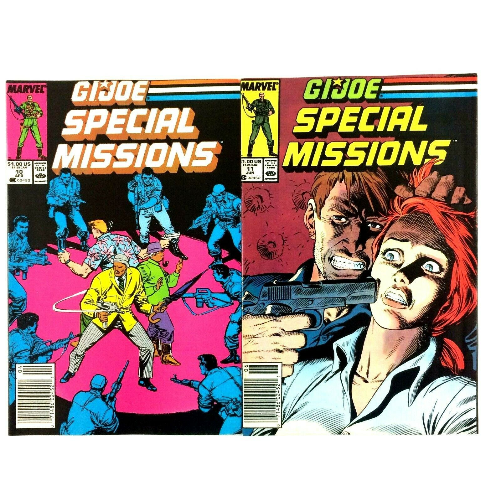 GI Joe Special Missions 10 Issue Comic Book Lot Marvel Snake Eyes Lady Jaye