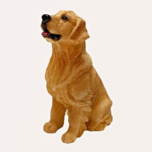 GOLDEN RETRIEVER DOG Figurine Statue Hand Painted Resin Living Stone - $12.50