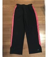 * champion black pink lounge comfy active gym pants large 10 girl - $4.95