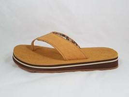 NIB Timberland Boy's Flip-Flop Junior's Sandal Leather Softbed Wheat Siz... - $42.31