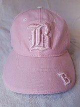 Embroidered B Front and Back Pink Baseball Hat Adjustable Strap Back Cap - $14.95