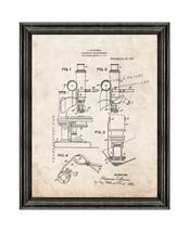 Microscope Illuminator Patent Print Old Look with Black Wood Frame - $24.95+