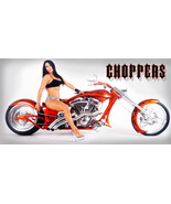 Chopper, Motorcycle, Bagger, Harley Garage Wall banner - Choppers Chic #22 - $34.64