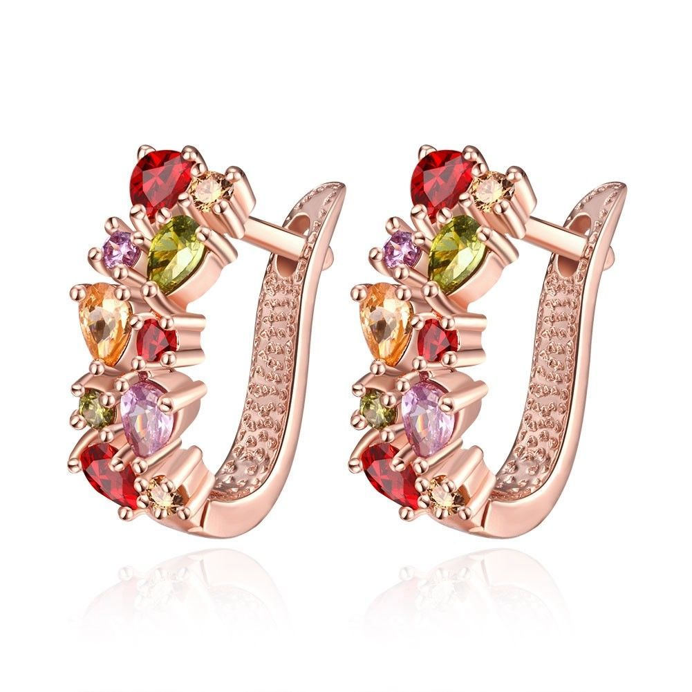 Colorful Ear Clip Dinner Earrings Made with Swarovski Elements image 2