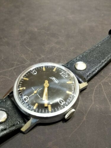 Watch Classic Black Dial Vintage ZIM Pobeda Square Men Retro Style Russian GIFT image 10