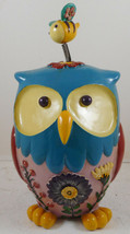 "Whimsy Owl & Bumblebee Statuary Figurine Polystone 10"" - $27.71"