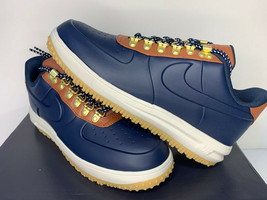 $140 NIB SIZE 8.5 MEN Nike Air Lunar Force LF1 Duckboot LOW Blue Brown S... - $87.11