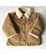 Patagonia Tan Corduroy Sherpa Lined Coat - Babies Toddlers Size 6-12 Months - $56.95