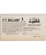 1963 Print Ad Mallard 17 1/2' Drake Travel Trailers West Bend,Wisconsin - $8.89