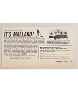 1963 Print Ad Mallard 17 1/2' Drake Travel Trailers West Bend,Wisconsin - $8.89