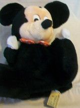MICKEY MOUSE WITH RED BOW TIE PLUSH HAND PUPPET from APPLAUSE - $29.69