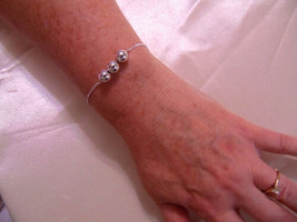 "Department Store  5.5"" w1 "" ext  3 Sterling Silver Ball Bracelet  H661 - €21,35 EUR"