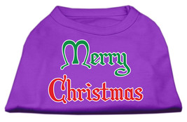 Merry Christmas Screen Print Shirt Purple XS (8) - $11.98