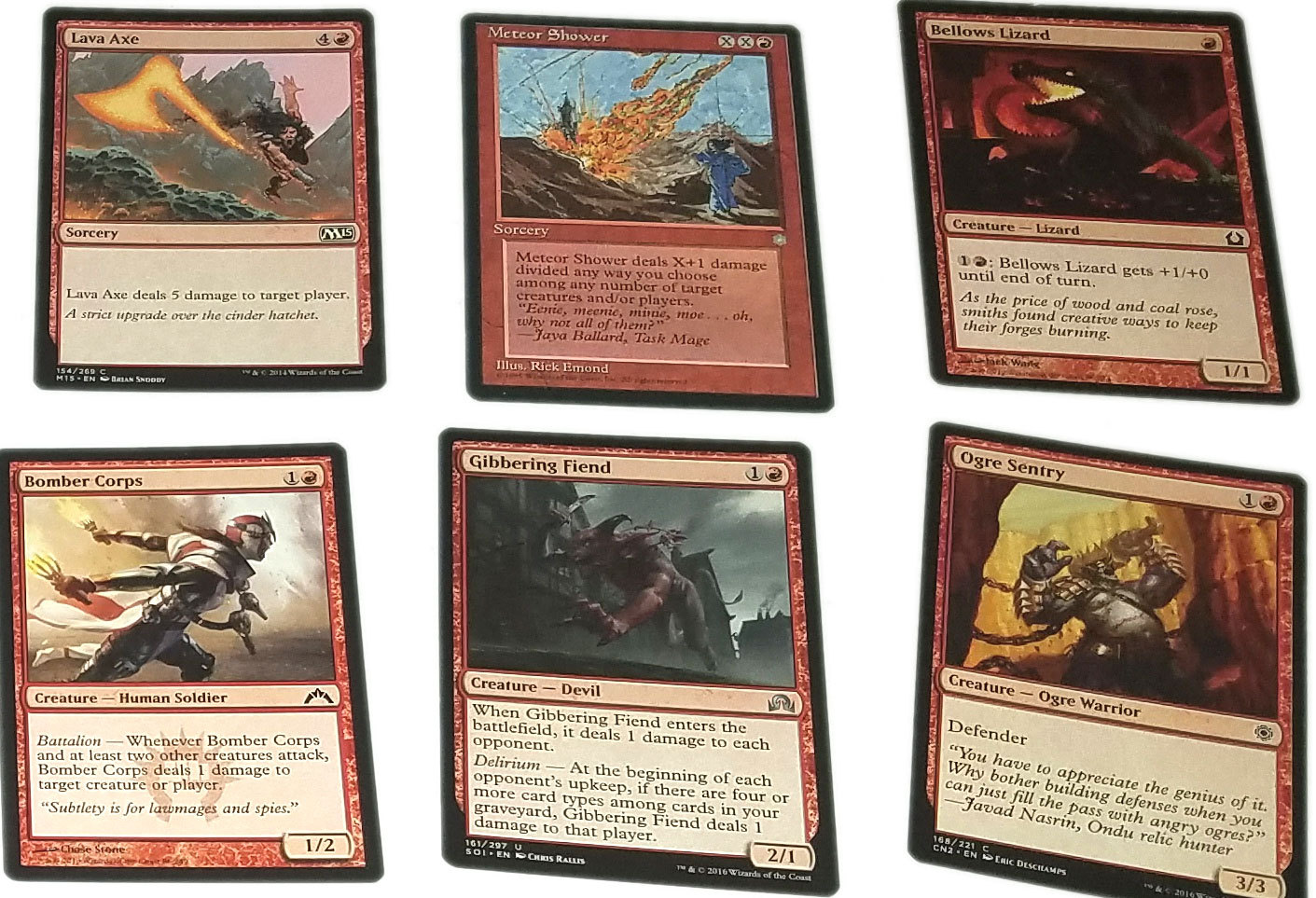 Magic the Gathering MTG Red Direct Damage / Red Burn Aggro (60) Card Deck *01