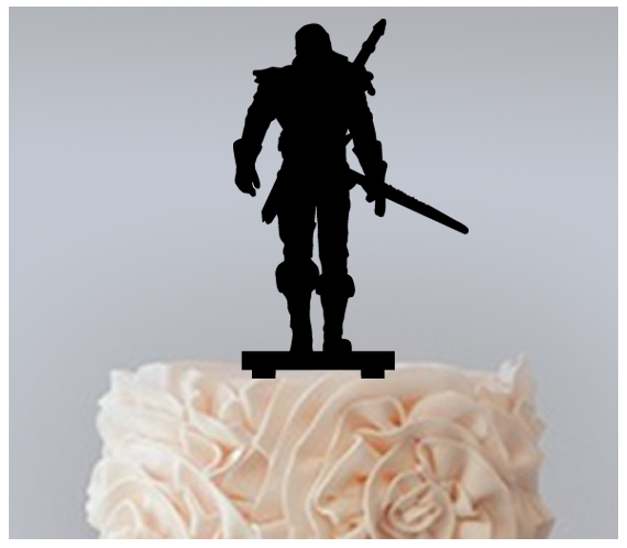 Decorations Cake topper,Cupcake topper,silhouette The Witcher Wild Hunt : 11 pcs